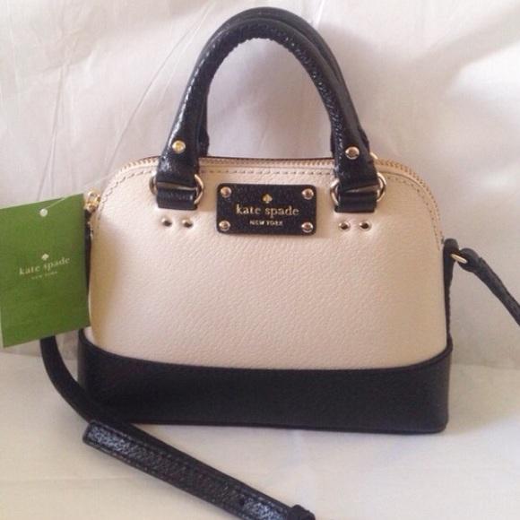 kate spade Handbags - FLASH SALE Kate Spade Black and Beige Mini Bag