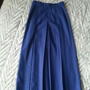 High waisted vintage pleated a-line midi skirt