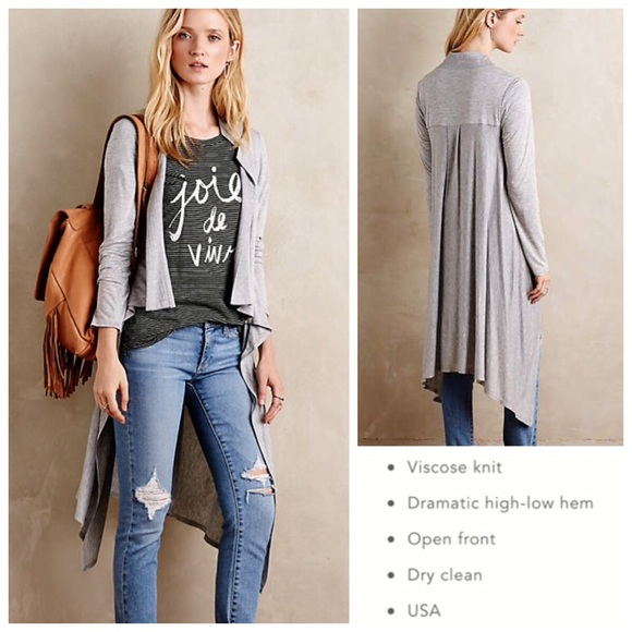 6e254b984d75 Anthropologie tops anthropologie amadi noontide hi lo jersey cardigan jpg  580x580 Amadi anthropologie