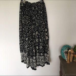 Vintage Dresses & Skirts - Vintage Bohemian Midi Skirt
