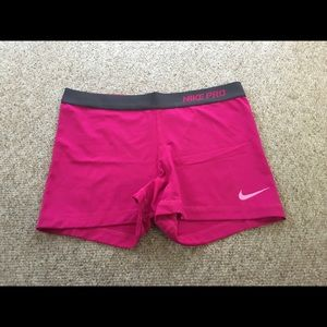Nike hot pink dri-ride shorts. Large.