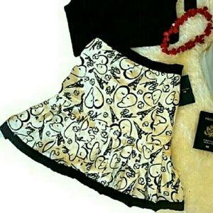 Catherine Malandrino Dresses & Skirts - CATHERINE MALANDRINO 14 A line Skirt Cream Print