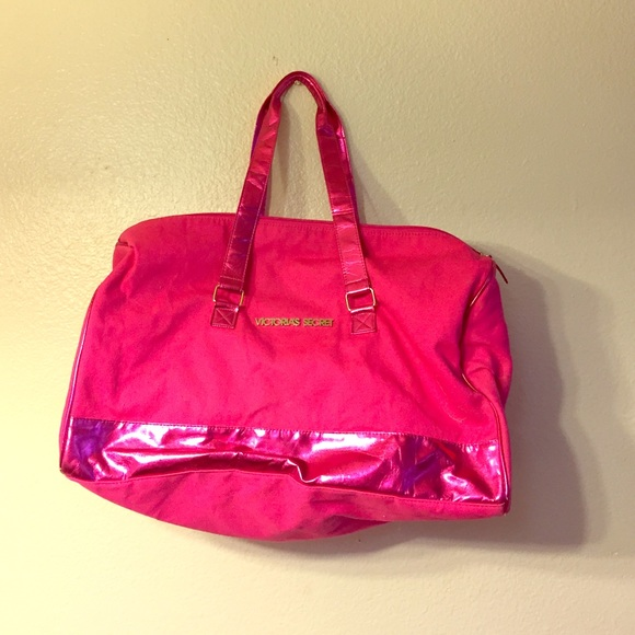 14 s secret handbags pink duffle bag from