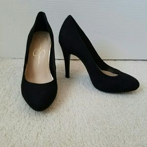 Jessica Simpson Malia black almond toe pumps