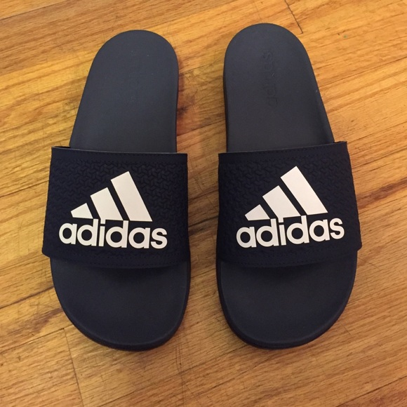 6690851cc8d5 Adidas Shoes - NEW Adidas Sandals Slides Slip On Rubber Blue
