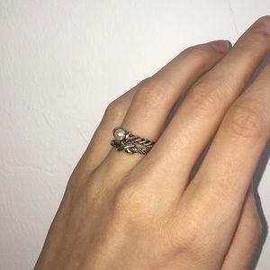 David Yurman Jewelry - David Yurman 925 & Gold 'X' Stacking Ring