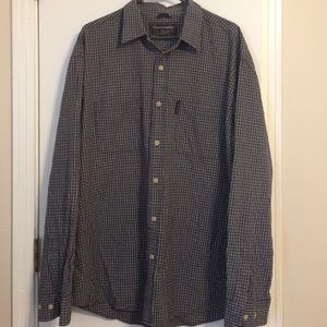 Abercrombie & Fitch blue/cream plaid shirt size L