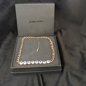 Jewelmint rose gold crystal necklace