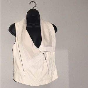 A.L.C. Jackets & Blazers - SALE! A.L.C. White/Cream Lamb Leather Vest Sz.S