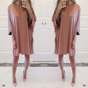 Dresses & Skirts - ❗️ONE left❗️Charlotte Dolman Sleeve Suede Dress