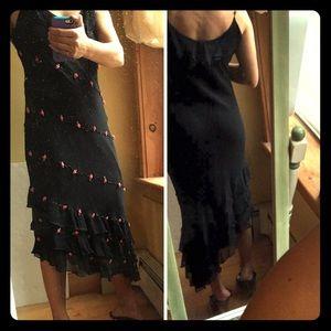 Ice Dresses & Skirts - 🌹Rose embellished black dress