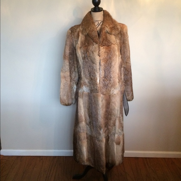 Rabbit fur coat vintage amusing
