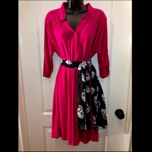 38% off Dresses & Skirts - Made in USA Pink Shirt Dress Medium ...