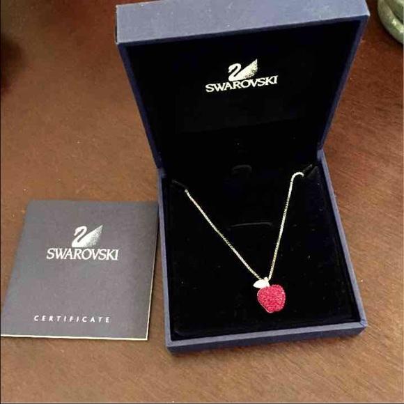 Swarovski jewelry eve apple pendant necklace new authentic poshmark eve apple pendant necklace swarovski new authentic mozeypictures Image collections