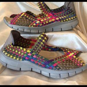 bernie mev. Shoes - Comfortable Elasticized Bernie Mev Rainbow Shoes