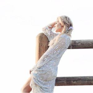 Pale Blue Sequin Dress