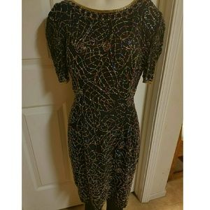 Vintage sequin beaded  Dress