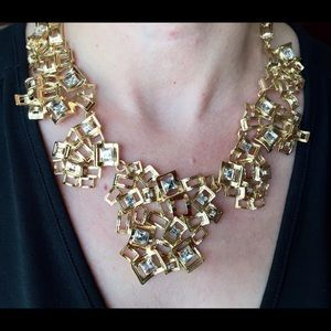 Bedecked and Bedazzled Jewelry - Gold Statement Necklace