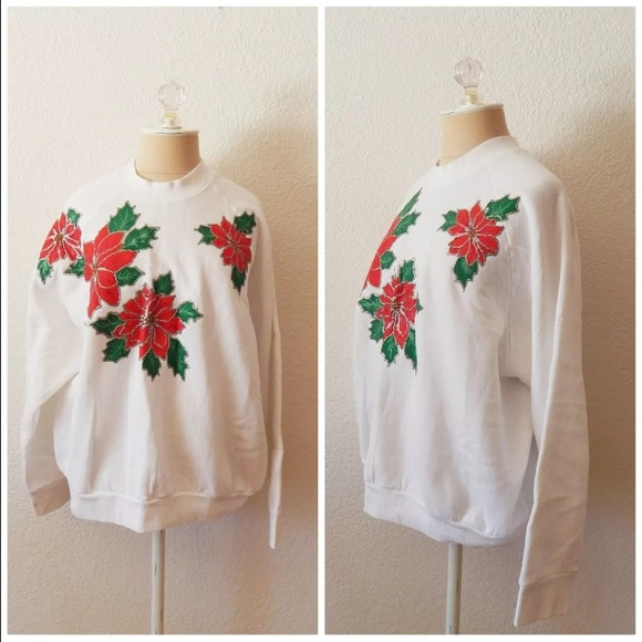 Vintage Sweaters Clearance Puff Paint Ugly Christmas Sweater