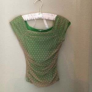 Sleeveless netted Anthropologie top
