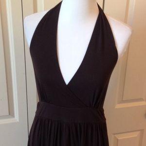 Long Elegant Legs Dresses & Skirts - Brown maxi halter dress