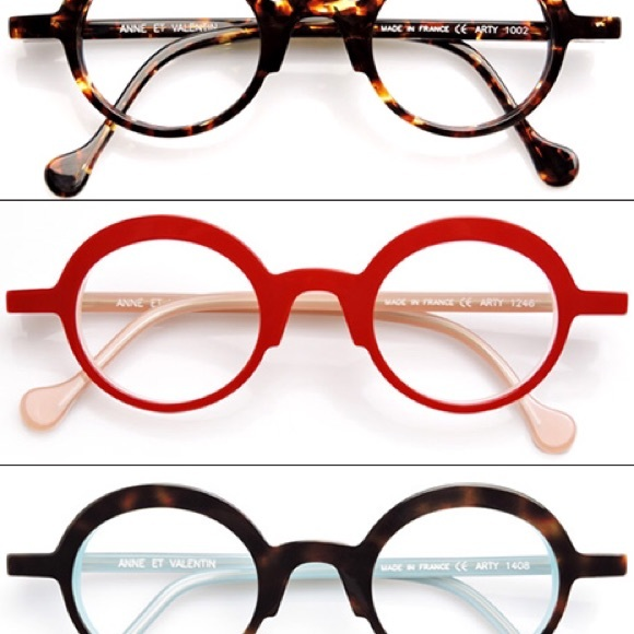 c48daaab0f5e09 anne et valentin Accessories - Red Anne et Valentin round glasses