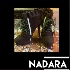 🦋Nardara🌹Brown Suede Ankle Boots