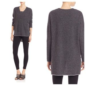 Eileen Fisher Sweaters - Eileen Fisher Charcoal 100% Cashmere Tunic Sweater