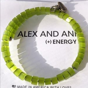 Alex & Ani Jewelry - Alex and Ani Lime Haight