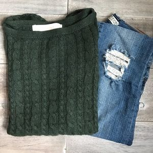 Zara Short Sleeve Cable Knit Sweater