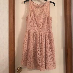 LC Lauren Conrad Lace Detail Party Dress