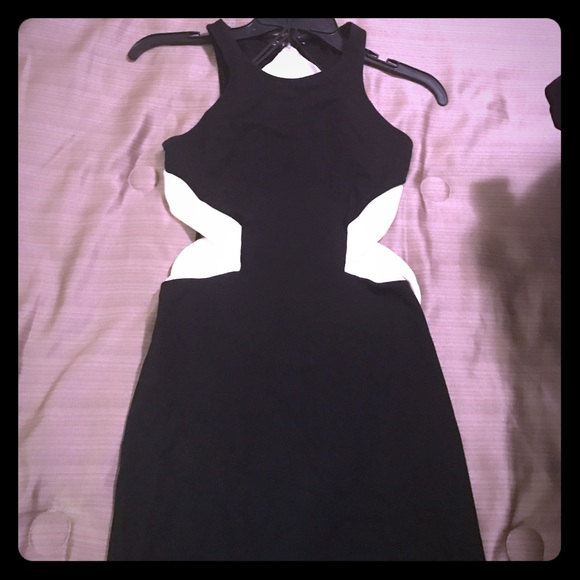 Express Dresses Backless Black And White Dress Poshmark