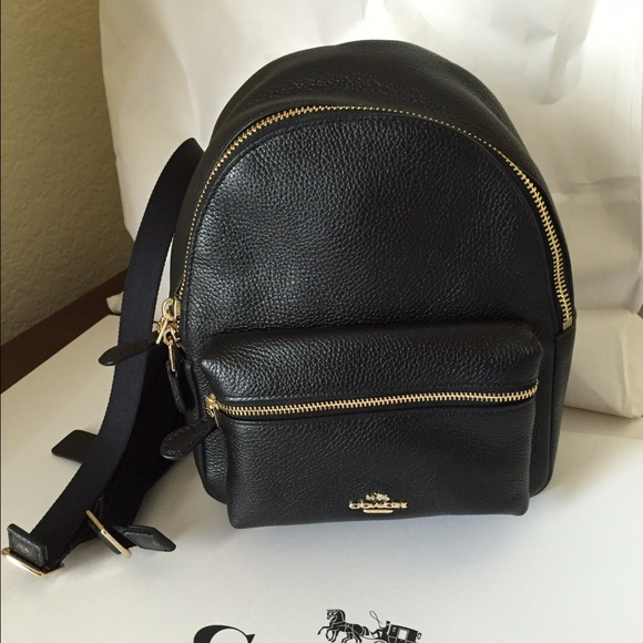 Coach Bags Mini Charlie Backpack In Pebble Leather