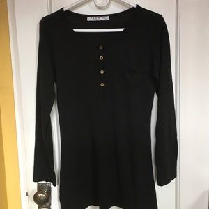 ZARA Basics Black Knit Top Size M