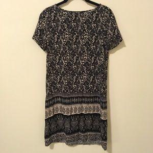 LuLu's Black & Cream Deco Shift Dress