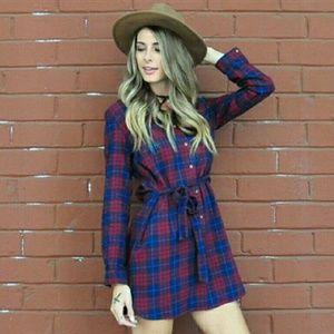 Dresses & Skirts - 'BAILEY' PLAID PRINT DRESS