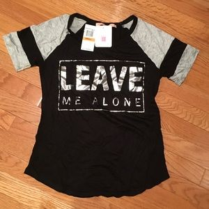 Rebellious One Tops - Rebellious One black T-shirt, new with tags