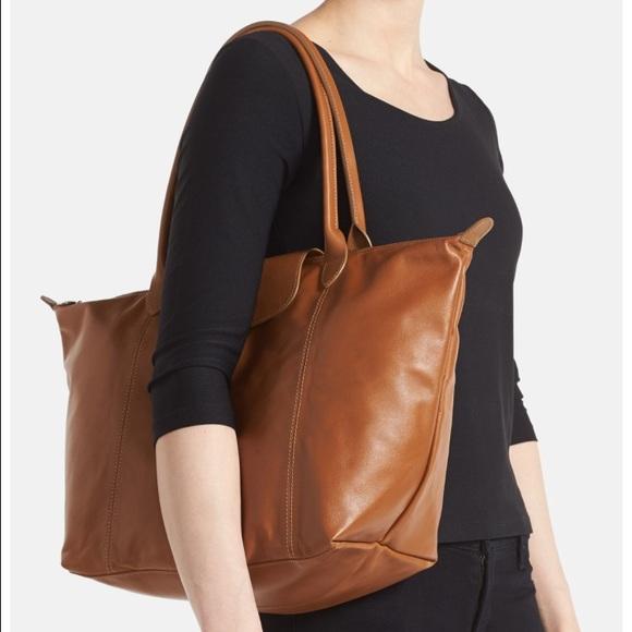 Longchamp Handbags - Longchamp Le Pliage Cuir Leather Tote in Tan. NWOT 17408cb173