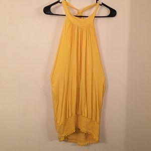Belle Ami Yellow Halter Top