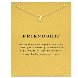 Golden Threads Jewelry - ⚓️ Friendship Anchor Pendant Necklace