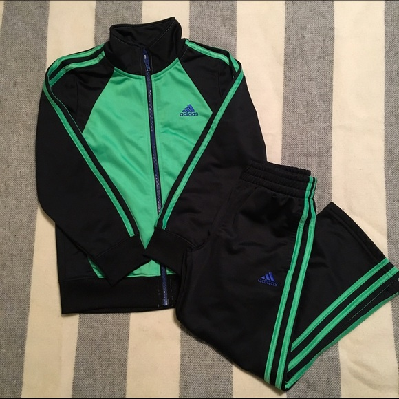 169c3c2bdc50 Adidas Other - Boys 6 Adidas Track Pants   Jacket Green   Black