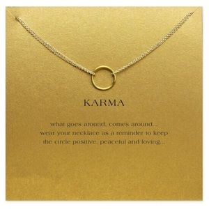 Golden Threads Jewelry - 💜 Karma Double Chain Circle Dainty Necklace