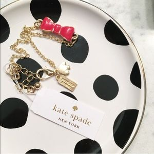 LAST 1! kate spade ❤️ Red bow bracelet gold