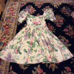 Loralie Dresses & Skirts - Vtg fabulous Flowery off the shoulders gown