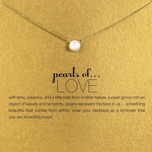 Golden Threads Jewelry - GOLD Chain😍 Imitation Pearl Chain Dainty Necklace