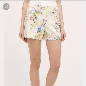 Anthropologie Pants - 💐Anthropologie 'Catalonia' floral shorts.