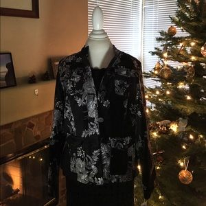 Covington Jackets & Blazers - NWT COVINGTON Velvet Jacket