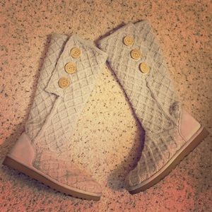 UGG Shoes - UGG Lattice Cardy Sweater Knit Boots