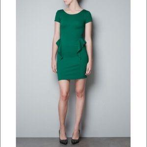 Zara green mini dress *make me an offer*