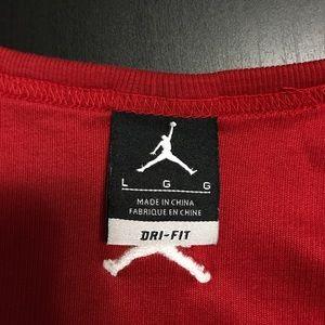11253c15bbe342 Jordan Shirts - Jordan Brand Red Dri-Fit Tank Top Large L